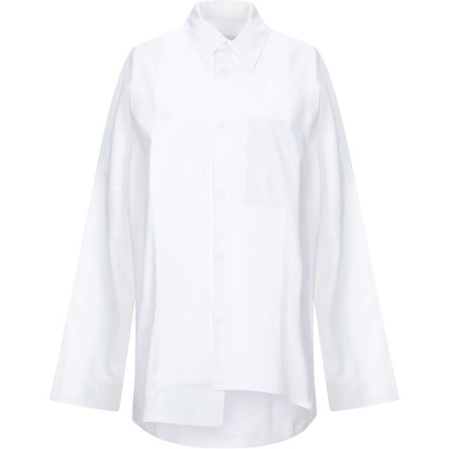 《セール開催中》BARBARA ALAN レディース シャツ ホワイト S コットン 100%