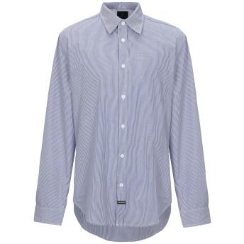 《セール開催中》LES (ART)ISTS メンズ シャツ ブルー M コットン 100%