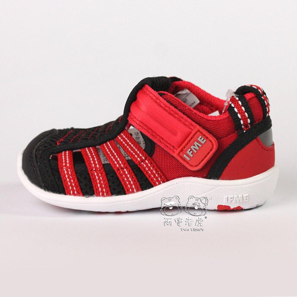 日本 IFME Water Shoes 排水涼鞋 紅黑 小童鞋 NO.R3847