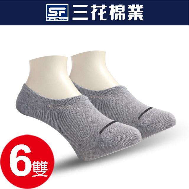 三花超隱形休閒襪(薄).襪子_中灰(6雙組)