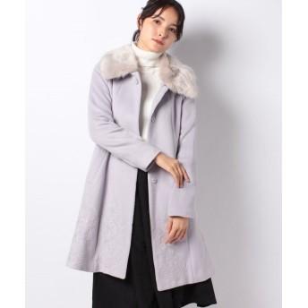 【20%OFF】 アクシーズファム 裾刺繍2wayコート レディース ラベンダー L 【axes femme】 【セール開催中】