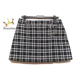 ニジュウサンク 23区 巻きスカート サイズ2 M レディース 黒×白 GOLF/チェック柄 新着 20191105