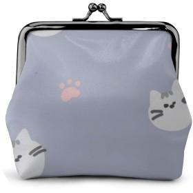 小銭入れ ミニ財布 コインケース ミニポーチ お札入れ かわいい猫 柄 小さい財布 PUレザー 小型でコンパクト 軽量 コイン 鍵 カード収納 約幅11.5cmx丈10.5cm