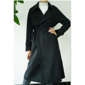 新作【黒 】コート・ジャケット 一枚仕立てフードコート