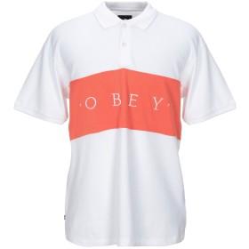 《セール開催中》OBEY メンズ ポロシャツ ホワイト S コットン 100%