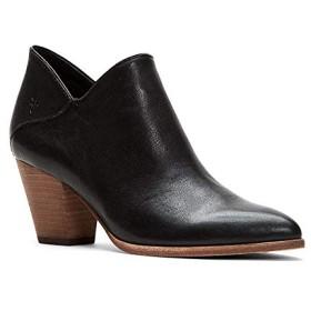 [フライ] シューズ ブーツ・レインブーツ Reed Leather Block Heel Booties Black レディース [並行輸入品]