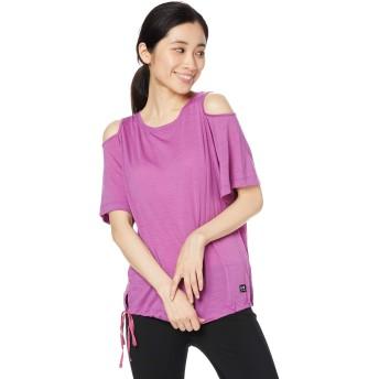 [エスエヌ スーパーナチュラル] Tシャツ ヨガ・メリノウール・アウトドアTシャツ レディース SNW013380 Ruby Pink EU S (日本サイズM相当)