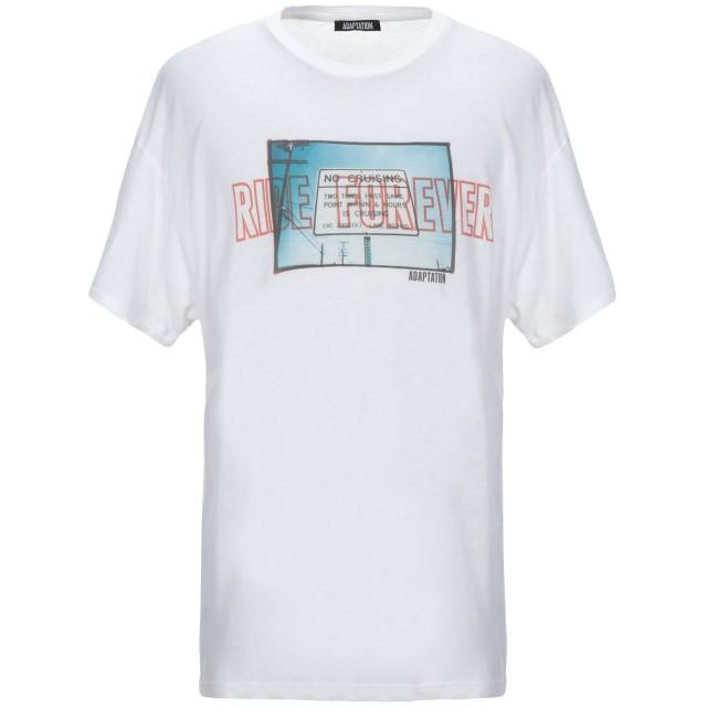 《セール開催中》ADAPTATION メンズ T シャツ ホワイト S コットン 95% / カシミヤ 5%