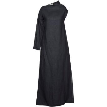 《セール開催中》SARTORIAL MONK レディース ロングワンピース&ドレス 鉛色 38 麻 100%
