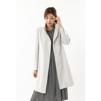 TRANS WORK 【Sサイズ~】ウールカシミヤショートビーバーコート その他 コート,ライトグレー