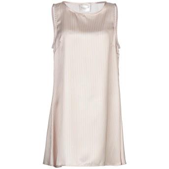 《セール開催中》MICHELA MII レディース ミニワンピース&ドレス ベージュ S ポリエステル 100%