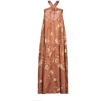 《セール開催中》VICOLO レディース ロングワンピース&ドレス ブラウン S コットン 100%