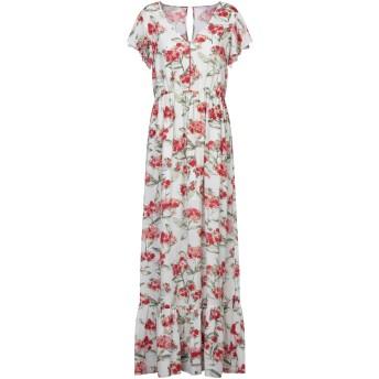 《セール開催中》PATRIZIA PEPE レディース ロングワンピース&ドレス ホワイト 44 ポリエステル 100%