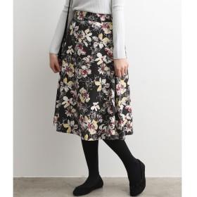 【ビス/ViS】 ピーチ起毛花柄プリントフレアスカート