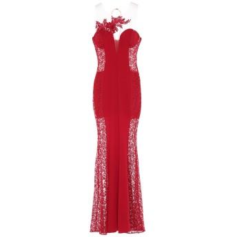《セール開催中》SOANI レディース ロングワンピース&ドレス レッド 44 ポリエステル 100%