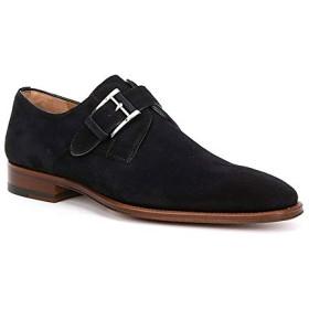[Magnanni] シューズ スリッポン・ローファー Men's Suede Enrique Monk Strap Shoe Navy メンズ [並行輸入品]