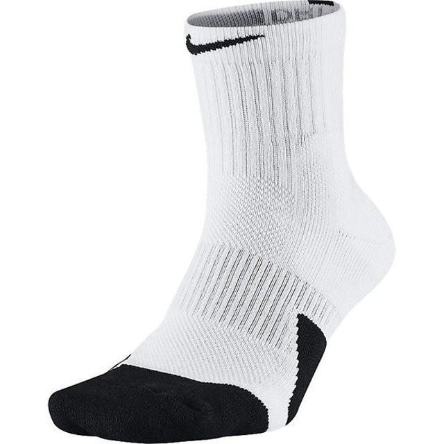 (セール)NIKE(ナイキ)バスケットボール メンズソックス ナイキ エリート ミッド ソックス 1.5 SX5594-100 ジュニア 21-23 ホワイト/ブラック/(ブラッ...