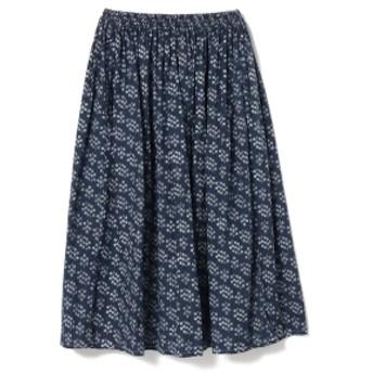 fennica <WOMEN>homspun / フラワープリント ギャザースカート レディース マキシ・ロング丈スカート BLUE ONE SIZE