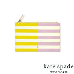 美國 Kate Spade Two-tone Stripe 條紋撞色 筆袋(內附文具組)