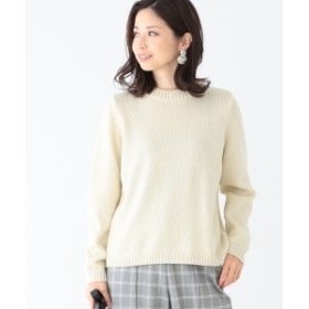 Demi-Luxe BEAMS Demi-Luxe BEAMS / バックチェーンステッチ プルオーバー レディース ニット・セーター OFF WHT ONE SIZE