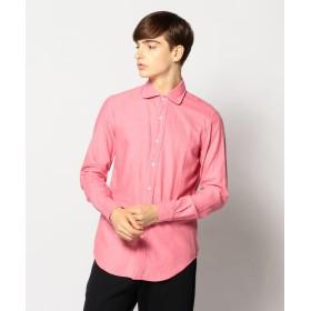 【40%OFF】 トゥモローランド サテンフランネル ラウンドカラーシャツ メンズ 35ピンク XS 【TOMORROWLAND】 【セール開催中】