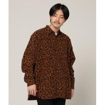 BEAMS BEAMS / アニマル イージー ミニ レギュラー シャツ メンズ カジュアルシャツ LEOPARD L
