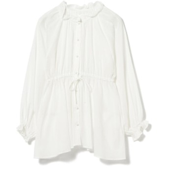 Ray BEAMS Ray BEAMS / ウエスト ギャザー バルーンスリーブ レディース カジュアルシャツ WHITE ONE SIZE