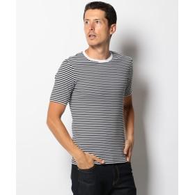 【オンワード】 SHARE PARK MENS(シェアパーク メンズ) 【LEE9月号掲載】MARUDOUボーダー半袖 Tシャツ ブラック 1 メンズ 【送料無料】