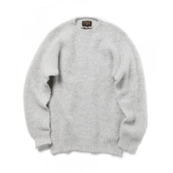 BEAMS PLUS BEAMS PLUS / シェットランドニット メンズ ニット・セーター SILVER S