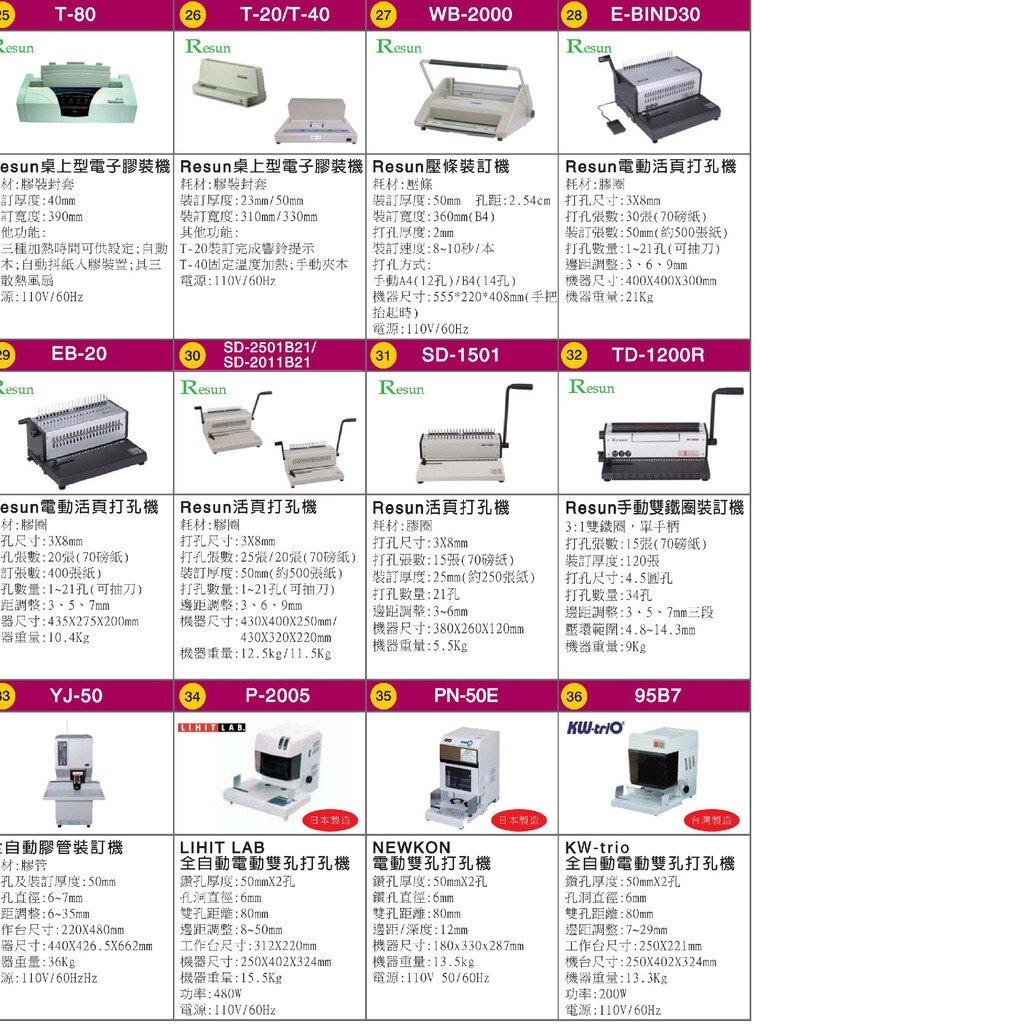 【辦公事務必備】Resun T-40 桌上型電子膠裝機 包裝 印刷 裝訂 膠裝 事務機器 辦公機器