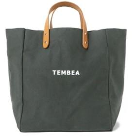 こども ビームス 【一部予約】TEMBEA × こども ビームス / 別注 マザートート ロゴ 2 キッズ トートバッグ CHARCOAL.G 30×34×20