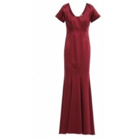 ザック ポーゼン ZAC ZAC POSEN レディース パーティードレス ワンピース・ドレス Fluted ruffled stretch-faille gown Plum