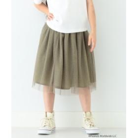 B:MING by BEAMS B:MING by BEAMS / ラメ チュール スカート 19AW キッズ 膝丈スカート OLIVE/OD 100