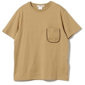 BEAMS LIGHTS BEAMS LIGHTS / パイピング ポケットTシャツ(日本製) メンズ Tシャツ BEIGE L