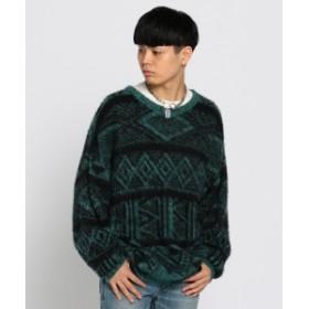 VAPORIZE VAPORIZE / Mohair Crew Knit メンズ ニット・セーター GREEN L