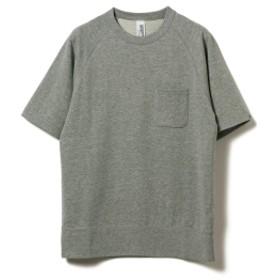 BEAMS PLUS LOOPWHEELER × BEAMS PLUS / 別注 エキストラライト プラス 半袖スウェットシャツ メンズ スウェット H.GRAY L