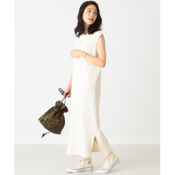 B:MING by BEAMS JE MORGAN × B:MING by BEAMS / 別注 スリットネック ワンピース 19AW レディース ワンピース IVORY ONE SIZE