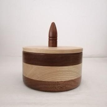 寄せ木の菓子器