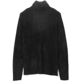 International Gallery BEAMS ROBERTO COLLINA / ミドルゲージ リブ タートルネックニット メンズ ニット・セーター BLACK 46/M