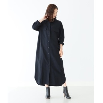 Demi-Luxe BEAMS 【Oggi11月号掲載】Demi-Luxe BEAMS / ポケット付 シャツワンピース レディース その他ワンピース NAVY ONE SIZE