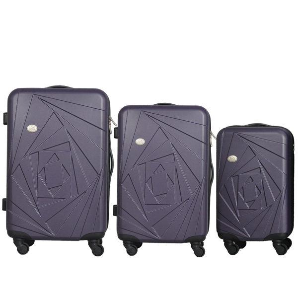 Mon Bagage 巴黎風情系列ABS輕硬殼 28寸 24寸 20寸 三件組 旅行箱 行李箱【神秘紫】