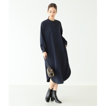 Demi-Luxe BEAMS Demi-Luxe BEAMS / バンドカラー シャツワンピース レディース ワンピース NAVY ONE SIZE