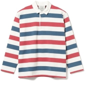 BEAMS PLUS ROWING BLAZERS / BIRKENHEAD AUTHENTIC HEAVYWEIGHT RUGBY メンズ ポロシャツ Blue/Red M