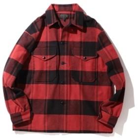B:MING by BEAMS PENDLETON / CPO チェックシャツ メンズ カジュアルシャツ RED L