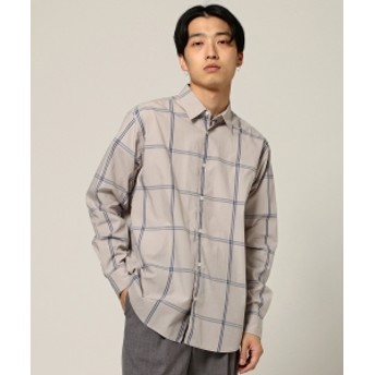 BEAMS BEAMS / ルーズシルエット チェックシャツ メンズ カジュアルシャツ TAUPE S