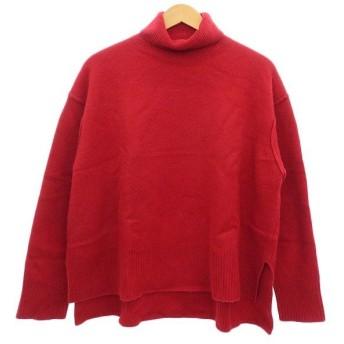 LE CIEL BLEU 17AW カシミヤミックスボイルニット タートルネックセーター レッド サイズ:36 (明石店) 191107