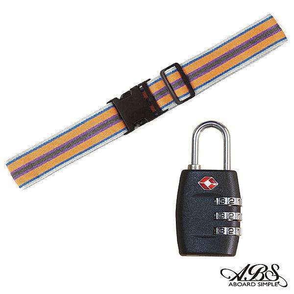 ABS愛貝斯 台灣製造繽紛旅行箱束帶TSA海關鎖配件組 (99-018束帶A14)