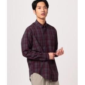 B:MING by BEAMS B:MING by BEAMS / リラックスフィット マドラスチェック ボタンダウンシャツ メンズ カジュアルシャツ PURPLE XL