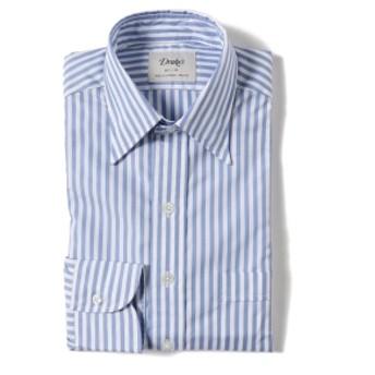 BEAMS F Drake's / 別注 ロンドンストライプ レギュラーカラー シャツ メンズ ドレスシャツ L.BLUE/002 38