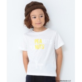 B:MING by BEAMS B:MING by BEAMS / Peanuts プリント Tシャツ 19AW キッズ Tシャツ WHT×YEL 100
